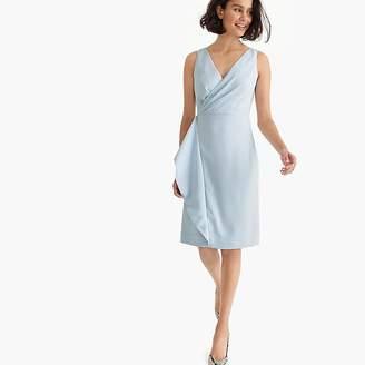 J.Crew Petite side-sash dress in 365 crepe