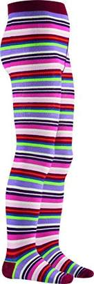 Playshoes Girls Supersoft Multicolored Meets Oekotex-100 Standards Tights,(Manufacturer Size:5-6 Years)