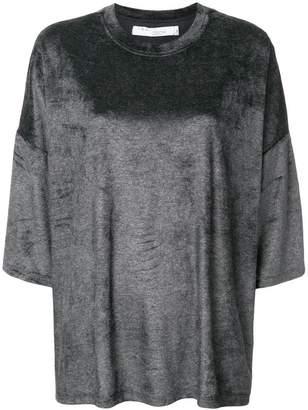 IRO round neck velvet jumper