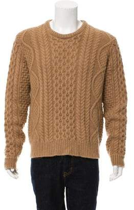 Calvin Klein Collection Camel Mohair Crew Neck Sweater