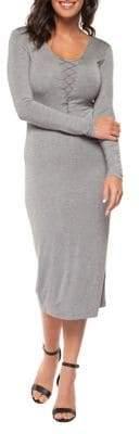 Dex Knit Lace-Up Sheath Dress