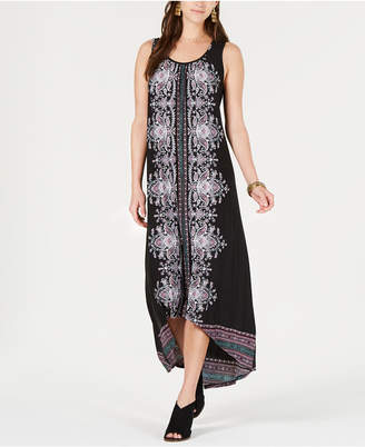 Style&Co. Style & Co Printed High-Low Dress, Created for Macy's