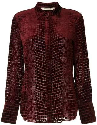 Roberto Cavalli snakeskin effect shirt