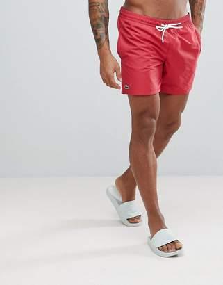 Lacoste Logo Swimwear In Red