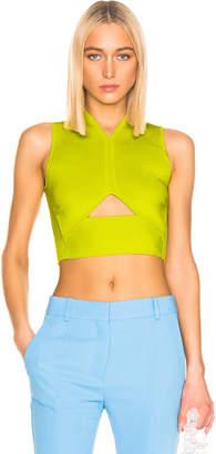 Cushnie Sleeveless Knit Top in Lime | FWRD