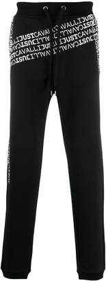 Just Cavalli scattered logo track pants