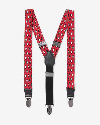 Express Penguin Print Suspenders