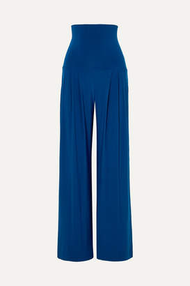 Norma Kamali Stretch-jersey Wide-leg Pants - Blue