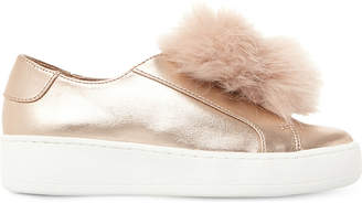 Steve Madden Fluffy pompom-trim faux-leather trainers 3-8 years