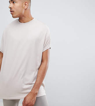 BEIGE Asos Design ASOS DESIGN Tall extreme oversized t-shirt in
