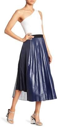 Haute Rogue Asymmetrical Contrast Patch Skirt