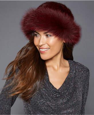 The Fur Vault Fox-Trim Mink Fur Hat