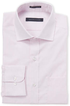 Tommy Hilfiger Pink Stripe Regular Fit Dress Shirt