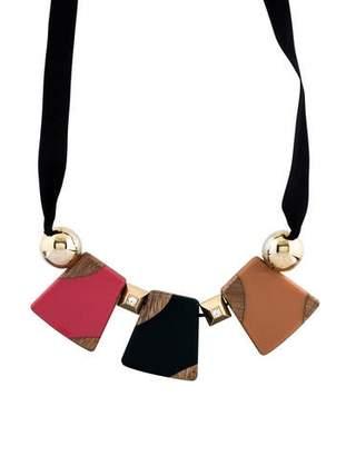 Marni Wood, Crystal & Resin Ribbon Necklace