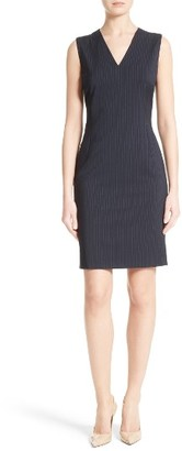 Women's Boss Dalenia Pinstripe Sheath Dress $545 thestylecure.com