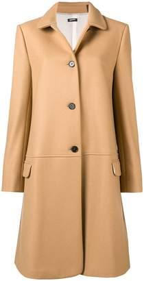 Jil Sander Navy buttoned midi coat