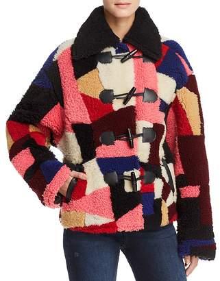 McQ Patchwork Shearling Coat
