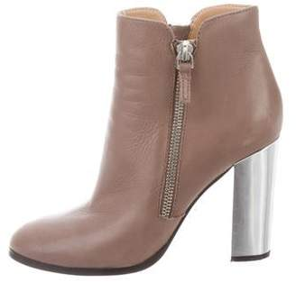 Saks Fifth Avenue Leather Round-Toe Ankle Boots