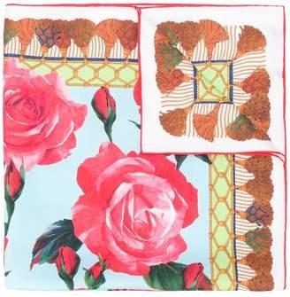 Dolce & Gabbana tasselled print floral scarf