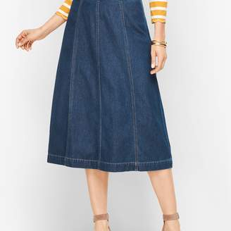 Talbots Denim A-Line Midi Skirt
