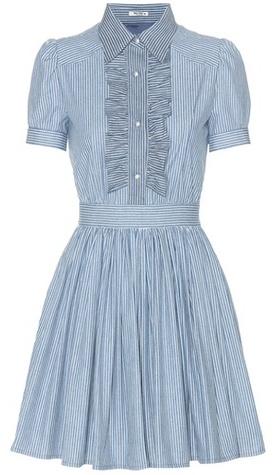 Miu MiuMiu Miu Striped Cotton Dress