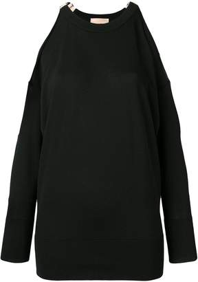 Cavallini Erika Dolores cut-out shoulder sweater