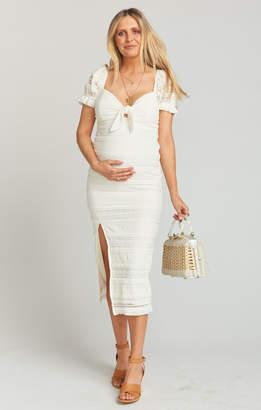 Show Me Your Mumu Honey Bun Tie Dress ~ Vintage Ruffle Lace Cream