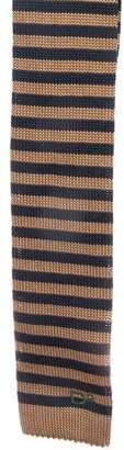 DSQUARED2 Striped Silk Knit Tie w/ Tags