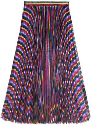 Iridescent pleated skirt $1,980 thestylecure.com