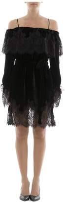 Gold Hawk Black Rayon Dress