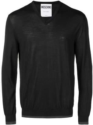 Moschino logo embossed sweater