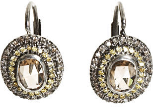 Zoe Champagne Diamond Earrings