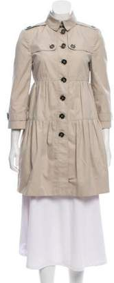 Burberry Pleated Long Jacket