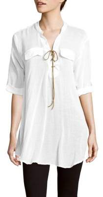Summer Of Love Solid Elbow-Length-Sleeve Top $144 thestylecure.com