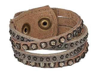 Leather Rock B978 Bracelet