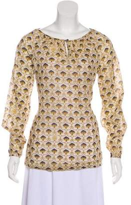 Tory Burch Patterned Long Sleeve Blouse