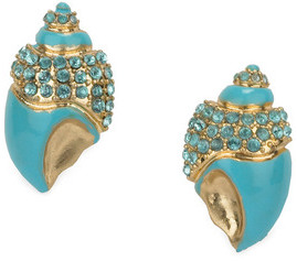 Liz Claiborne Pave Shell Earring