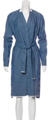 Proenza Schouler Chambray Long Sleeve Dress