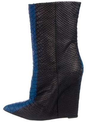 Giuseppe Zanotti Embossed Pointed-Toe Boots