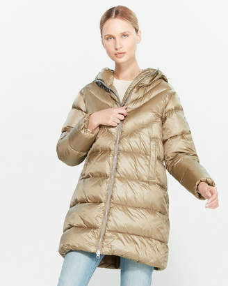 Blauer Quilted Down Long Coat