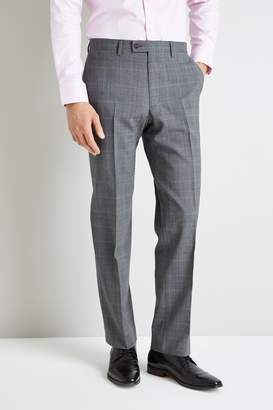 Ted Baker Gold Tailored Fit Grey Glen Check Trousers