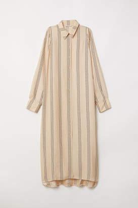 H&M Calf-length Shirt Dress - Beige