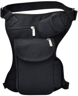 ThinkMax Women Men Multifunction Outdoor Sport Fishing Leg Bag Canvas Money Waist Bag with Adjustable Belt
