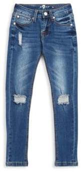 7 For All Mankind Girl's Ripped Denim Jeans