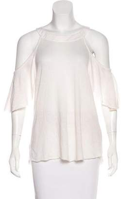 The Elder Statesman Cold-Shoulder Cashmere Top