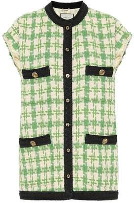 Gucci Houndstooth tweed vest