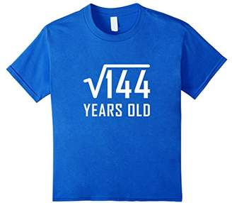 Square Root Of 144 12 Years Old 12th Birthday T-shirt