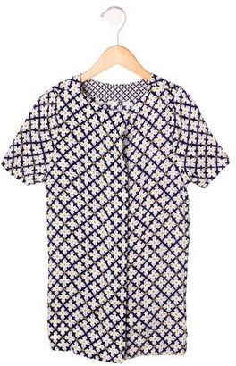 Stella McCartney Girls' Abstract Print Short Sleeve Top w/ Tags $65 thestylecure.com