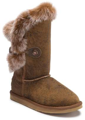 Australia Luxe Collective Nordic Angel Short Genuine Rabbit Fur and Sheepskin Boot