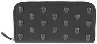 Lucien Pellat-Finet Skull Studs Long Zip Wallet